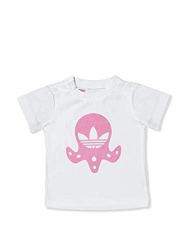 1b601da8da1c1 Adidas Originals Bébé Trefoil Logo Fille T-Shirt + Moules de Sable Cadeau  Rose