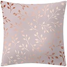 Dorical Funda De Almohada Cuadrada 45x45 Cm Suave Y Elegante Lujo Rosa Dorado Estampado Simple Moda