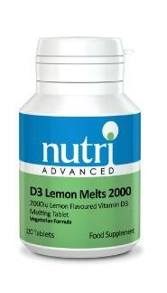 Vitamin D3 2000IU 120 Tablets by Nutri Advanced