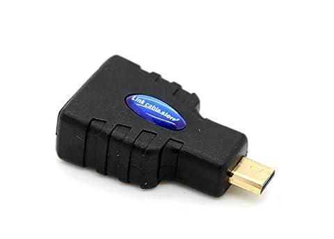 LCS - Adaptateur HDMI vers Micro HDMI (Type D) - Pour Tablettes et Smartphones - Version 1.4 / 2.0 - Full HD 1080p / Ultra HD 2160p - Ethernet et 3D - Connecteurs en plaqués or
