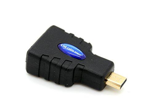LCS - Micro HDMI Adapter 1.4 / 2.0 neue Generation FULL HD 1080p - Hochgeschwindigkeits mit ETHERNET und 3D - Vergoldete kontakte