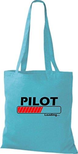 Jute Stoffbeutel Pilot Loading viele Farben sky