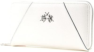 LA MARTINA Estrella Long Size Wallet with Zipper White