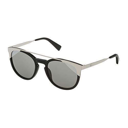 Furla occhiali da sole donna nero lucido lenti smoke mirror silver shield sfu244 700x 52-21-140