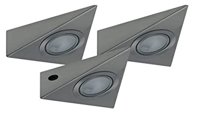 Paulmann 98398 Möbel ABL Set 3eck. 3x20W 60VA 230/12V G4 Eisen gebürstet Metall/Glas von Paulmann Leuchten bei Lampenhans.de