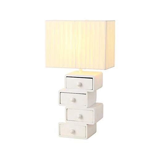 Kunst-schubladen (Moderne Kronleuchter Scheinwerfer Persönlichkeit Tischlampe Rechteck Tuch Lampenschirm Tischlampe Mit Praktische Holz Kunst Schublade)
