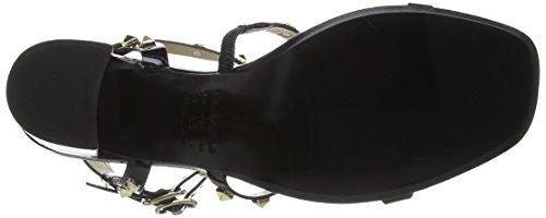 Primafila - 50.3.084, Scarpe col tacco con cinturino a T Donna Nero (Nero (nero))