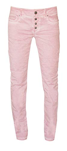 Coccara Damen Jeans Hose Curly New Women's Denim CN116706, Cn647 - Pink, 31 - Pink Denim