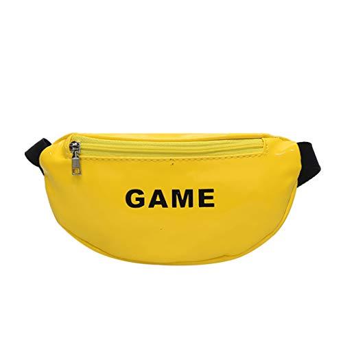 XZDCDJ Hüfttasche Damen Sport Crossbody Tasche Damen Elegant UmhängeTaschen Mädchen Joker Mode Brusttasche Tasche Umhängetasche Gelb