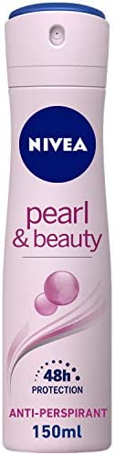 NIVEA, Deodorant Female, Pearl & Beauty, Spray, 1