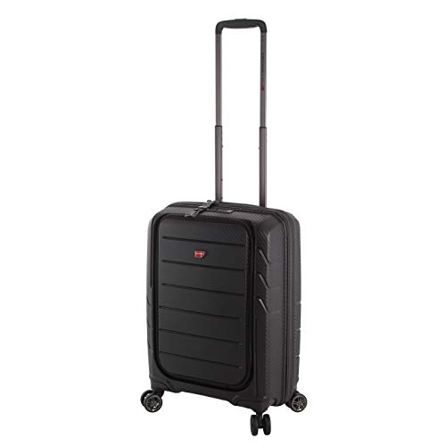 Von Cronshagen Hangepäck Trolley 55cm, Hartschalenkoffer mit Notebookfach, 360° Rollen, TSA-Schloss, Hochwertig und Edel (schwarz) -