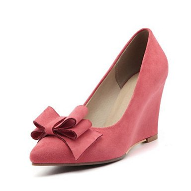 Sanmulyh Femmes Chaussures Printemps Automne Confort Nouveauté Talons Talon Talon Toe Booties / Bottines Bowknot Pour La Fête De Mariage Et Rose