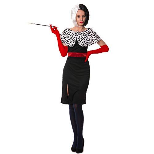 Disney Cruella Kostüm - sowest Kostüm Evil Dog Lady Dress Black