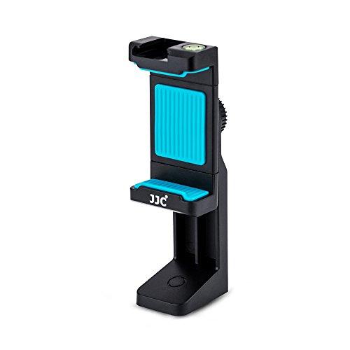 """JJC Universale Rotazione di 360 Gradi Treppiede Supporto con Morsetto Regolabile, Cold Shoe Mount & Livella per Telefoni Intelligenti su 1/4""""-20 Treppiede Monopiede Selfie Stick"""