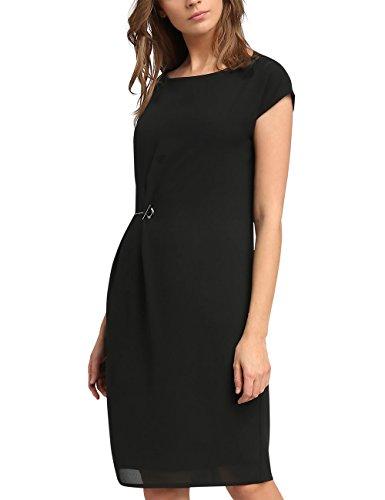 APART Fashion Damen Kleid 49695, (Schwarz), 38