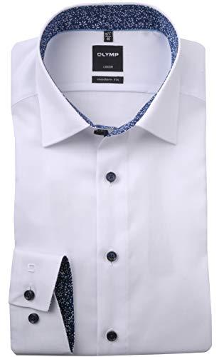 OLYMP Luxor modern fit Hemd extra Langer Arm Struktur weiß Größe 42
