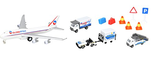 Dickie Toys 203743001 - Airport Playset, Flughafenfahrzeugset