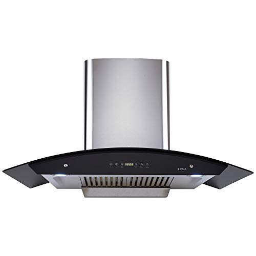 Elica 90 cm 1200 m3/hr Auto Clean Chimney with Free Installation Kit (WD HAC TOUCH BF 90 SS, 2 Baffle...