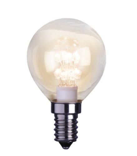 Best Season 336-11 Decoline Ersatzglühbirne LED, E14, 2100 K, klar, rundform, 230V
