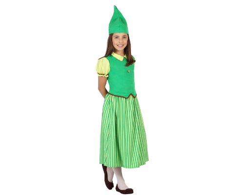 (ATOSA 23688 - Kobold Mädchen Kostüm, Größe 104, grün)