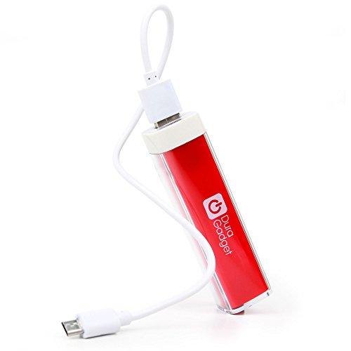 Aufladen für unterwegs: Ladebatterie Power-Bank mit Kabel (Mikro-USB + Standard-USB) für Disney...