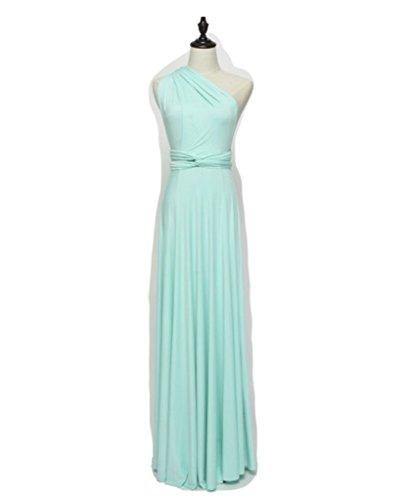 Infinity Kleid, Ballkleid, Brautjungfernkleid, Gr. 34-42 türkis/hellblau Wickelkleid lang, 70...