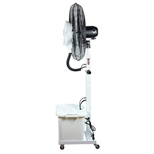 HGNA-Kühl&Heizsystem Großer Luftkühler Timing Oscillating Outdoor Misting Fan - Große Indoor-Spray Cooling Industrial Fan Luftbefeuchter 3 Geschwindigkeitseinstellungen Starke Quiet White Water Tank