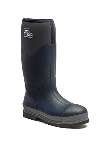 DICKIES LANDMASTER PRO SAFETY NAVY/GREY REFLECTIVE NEOPRENE BOOTS WELLIES FW9902-UK 9 (EU 43) -