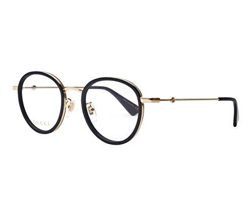 Gucci Brille (GG-0608-OK 001) Metall - Acetate Kunststoff schwarz glänzend - gold