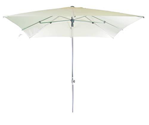 Parasol Jardin   Crème   250 x 250 cm / 2.5 x 2.5m   Carré   SORARA   MILANO   Polyester 250 g/m² (UV 50+)