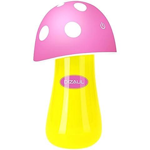 Humidificador, dizaul®Mini USB portátil Mushroom humidificador ultrasónico + LED de la noche de la lámpara Conveniente como regalo(Rosa)