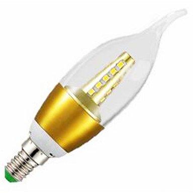 FDH 5pcs 7W E14 de color blanco cálido Cielo Estrellado LED LUZ DE VELA SDM2835 lámparas de araña (AC220-240V)