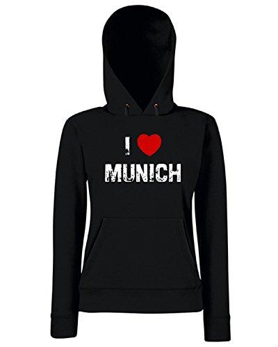 T-Shirtshock - Sweats a capuche Femme TLOVE0115 i munich tshirt Noir