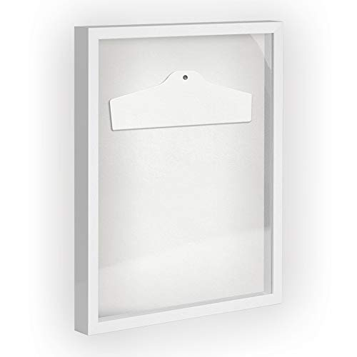 Objektrahmen Trikotrahmen VARIO inkl. Bügel und Passepartout 70x90cm Weiß (lackiert) (T-shirt 70 Weiße)