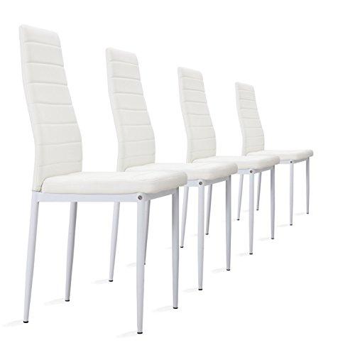 4 Stück Weiße Stühle Esszimmerstühle, Küchenstühle Gebraucht Kaufen Wird An  Jeden Ort In Deutschland