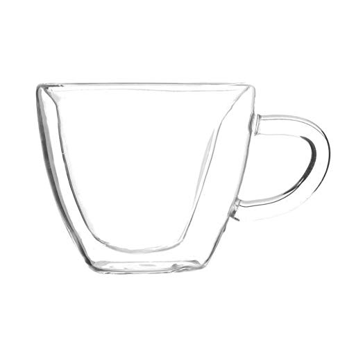 Erjialiu Herz-Liebe geformt transparentes Glas Doppelwand Milchglas Tasse Kaffee Tee Milch Bier Tasse Saft Becher Hitzebeständigkeit Drinkware,Stil 1