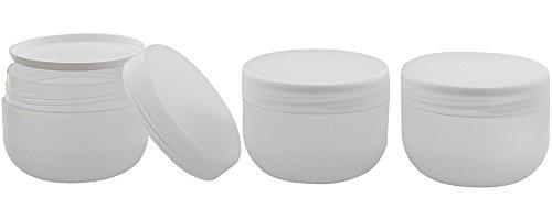 "Kunststoffdose\""Run\"", Creme-Dose, 200 ml, m. Abdeckscheibe Kosmetex Kosmetikdose, matt, leer, 3× 200 ml"