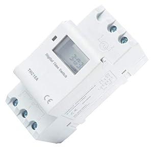 Pandiki 7.5VA Digital LCD Disply Stromschienenmontage Timer, elektronische Zeit Wöchentlicher programmierbarer…