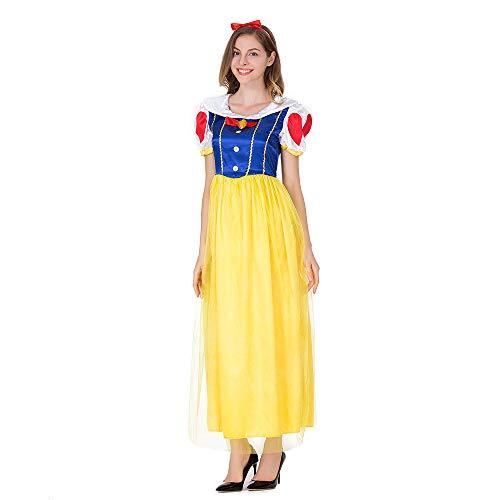 PRTQI Halloween Cosplay Kostüm Schneewittchen Maxi Dress Disney Kostüm Masquerade - Masquerade Dress Kostüm