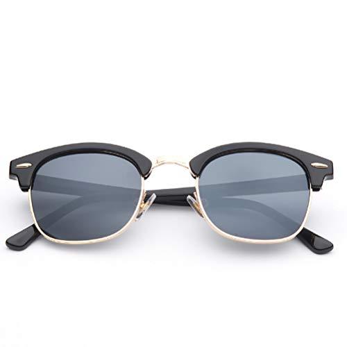 YRE Halbrahmen Kindersonnenbrille, stilvolle Persönlichkeits-Kindersonnenbrille, uv400 Harz-Sonnenbrille 2-8 Jahre alt,E