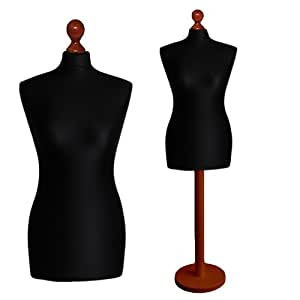 luk mal buste de couture mannequin femme 36 38 housse noire pied calvados ronde. Black Bedroom Furniture Sets. Home Design Ideas