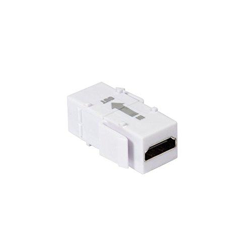 Faconet® Keystone Modul HDMI mit eingebautem Repeater Verstärker HDMI-A Buchse > HDMI-ABuchse Verbinder für Keystone Panel oder Dose Coupler Repeater