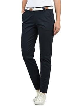 Desires Chakira Pantalón Chino Pantalón De Tela para Mujer con Cinturón Elástico Regular-Fit