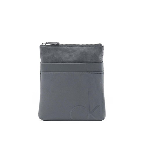 CALVIN KLEIN - Homme sac a bandouliere tom flat crossover gris