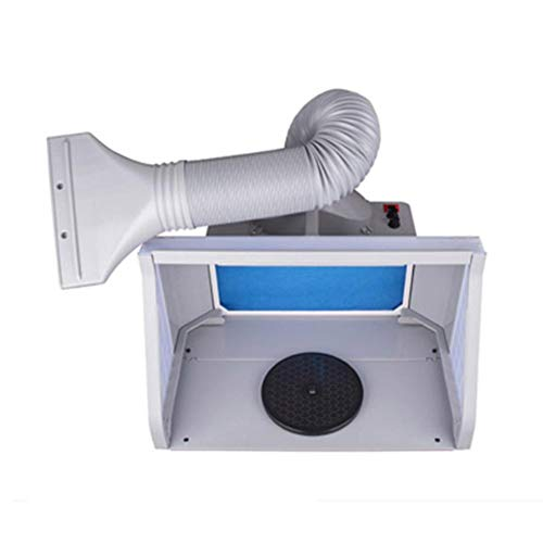 Pulvérisation pour Aérographe,Filtre d'extracteur de cabine de pulvérisation de métier d'artère de kit de cabine de pulvérisation d'aerographe 100-220V UE plug
