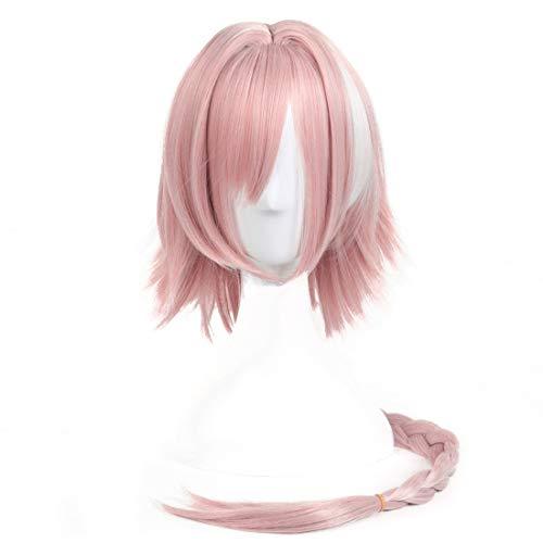 Anime Charakter Astolfo Perücke Cosplay Perücke für Schicksal/Apokryphen (Color : Cherry powder)