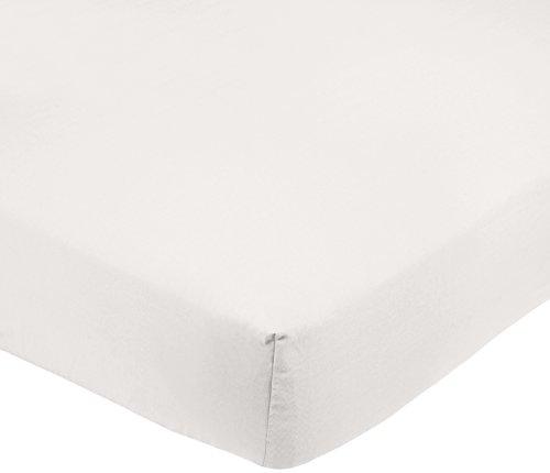 AmazonBasics Drap-housse en microfibre Blanc 160x200x30cm