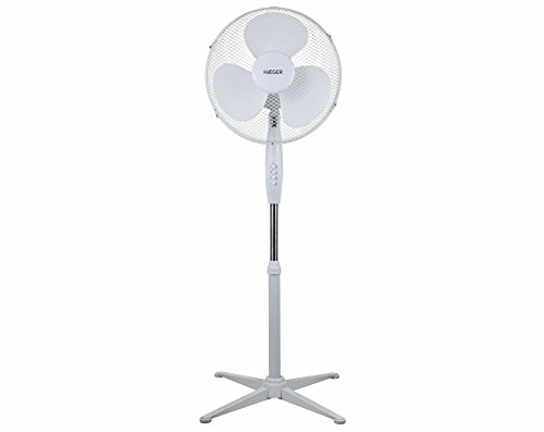 HAEGER Cross Wind - Ventilador de pie, 3...