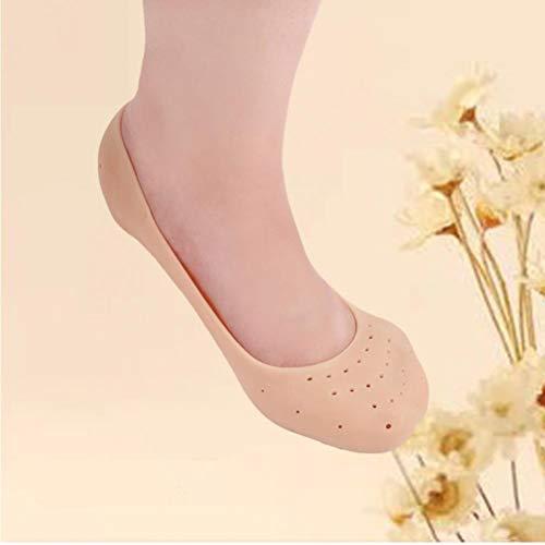 TOSSPER 1 Paar atmungsaktiv Feuchtigkeitsspendende Fuß-Socken-Ganzkörper Silikon-Gel-Socken Gebrochen Fußpflege Schutz Fußpflege Werkzeug -