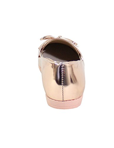 By Shoes Richelieu Plat Style Vernis - Femme Champagne
